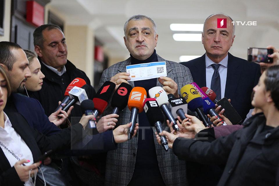 Mamuka Xazaradze bəyan edir ki, Bidzina İvanişviliyə Aeroflotun biletini aldı