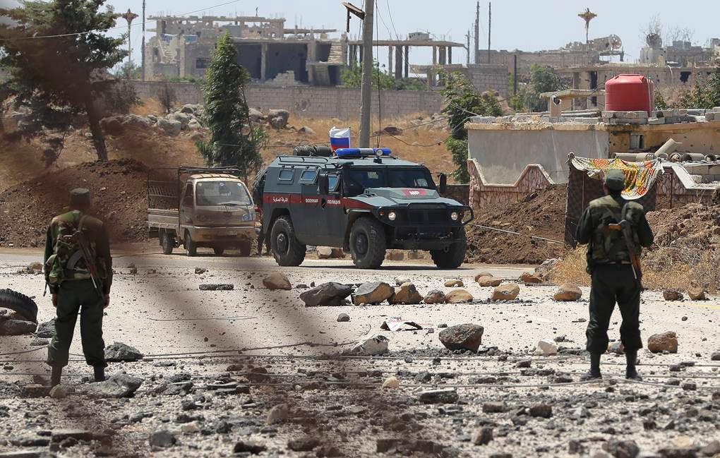სირიაში რუსი სამხედროების ჯავშანმანქანა ააფეთქეს