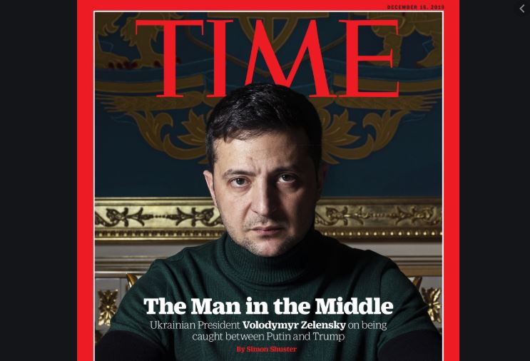'Between Trump and Putin': Ukraine's President first hit cover of Time
