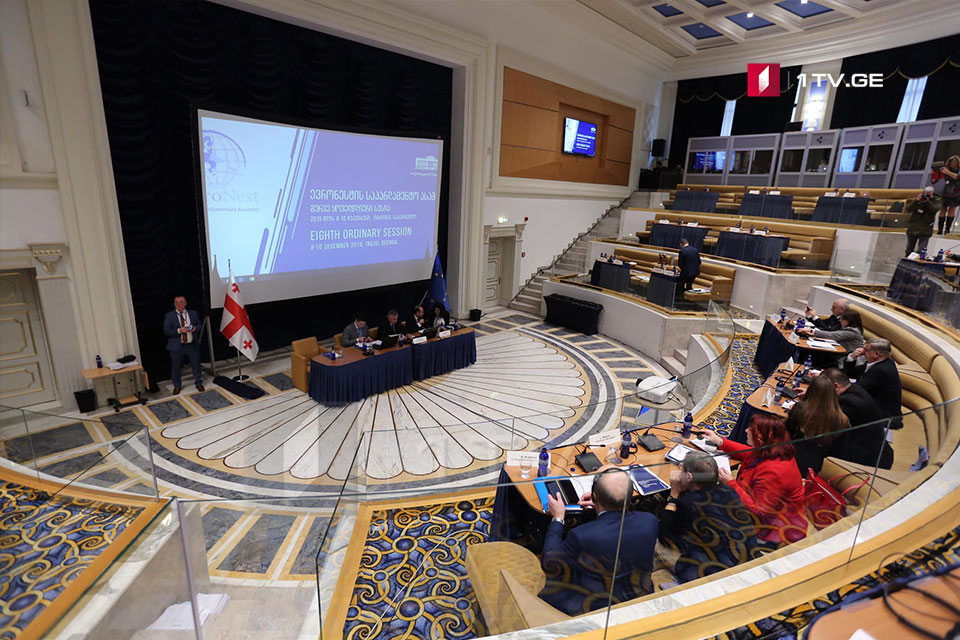 """Парламентская ассамблея """"Евронеста"""" отклонила требование оппозиции, внести в итоговый вариант резолюции запись о политзаключенных и политическом кризисе в Грузии"""