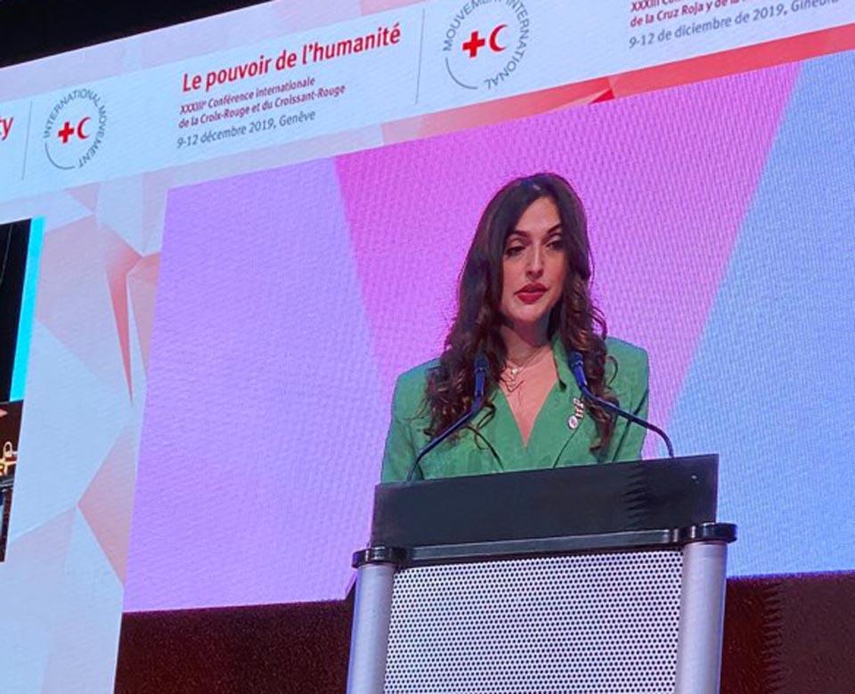 ჟენევაში მიმდინარე საერთაშორისო კონფერენციას საქართველოს წითელი ჯვრის პრეზიდენტი ნათია ლოლაძე თავმჯდომარეობს