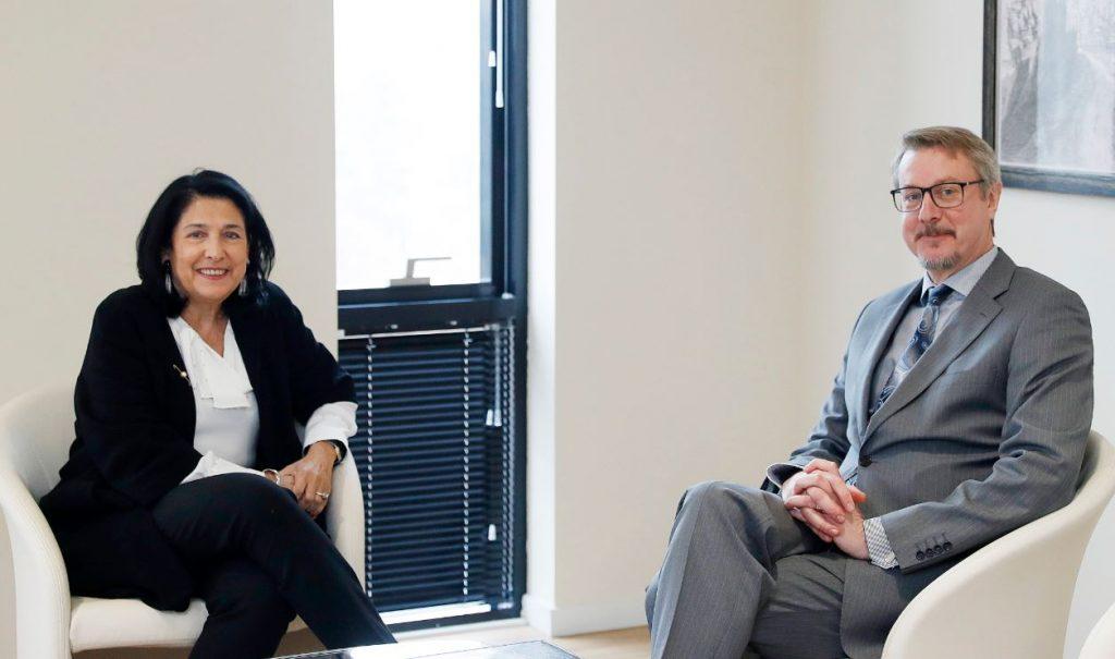 Саломе Зурабишвили обсудила с Карлом Харцелем ситуацию в стране и развитие отношений между Грузией и ЕС