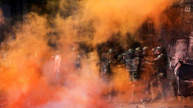 გაერო ჩილელ სამართალდამცველებს დემონსტრაციებზე ადამიანის უფლებების დარღვევებში ადანაშაულებს