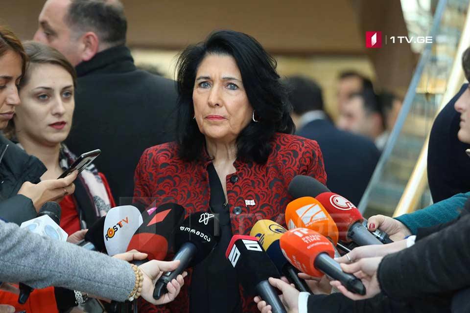 სალომე ზურაბიშვილი - მე არავის ვპატიჟებ, ვუპასუხე რუსეთის წარმომადგენელს, რომელმაც კითხვის ნიშნის ქვეშ დააყენა ჩვენი სტუმართმოყვარეობა