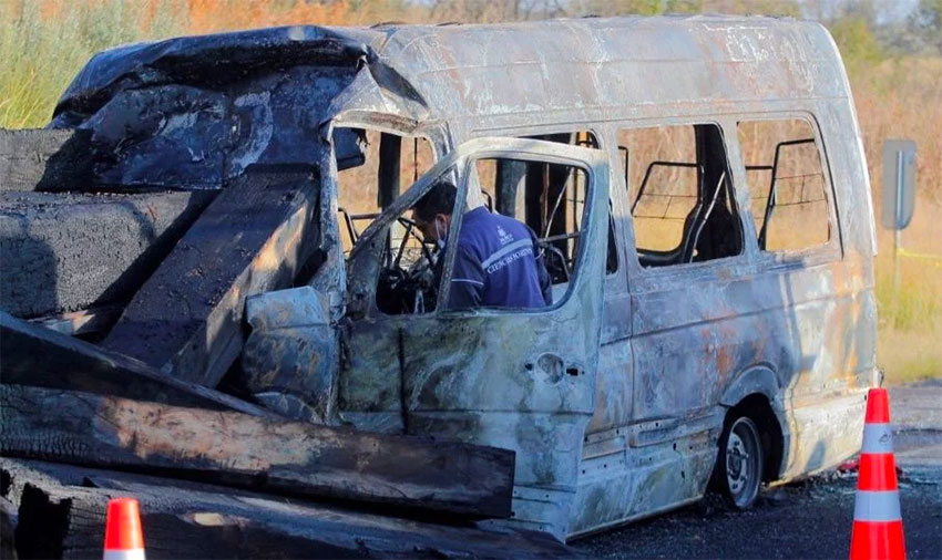 მექსიკაში ავტოსაგზაო შემთხვევის შედეგად 14 ადამიანი დაიღუპა