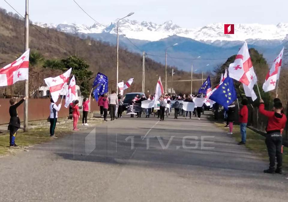 Акция в поддержку врача Важи Гаприндашвили прошла в Цаленджиха