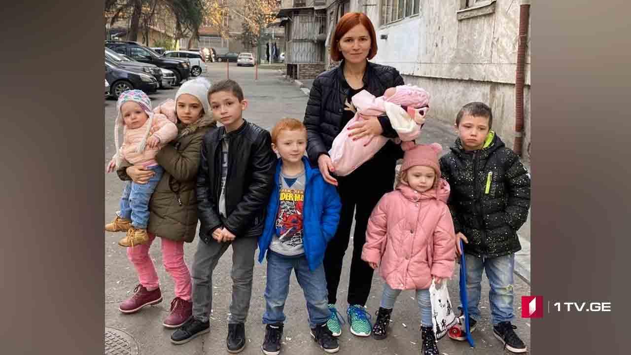 შვიდი შვილის 34 წლის დედა
