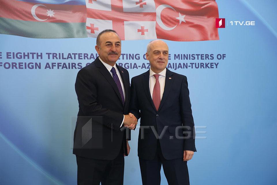 Во Дворце государственных церемоний в Тбилиси проходит встреча ДавидЗалкалиании его турецкого коллеги