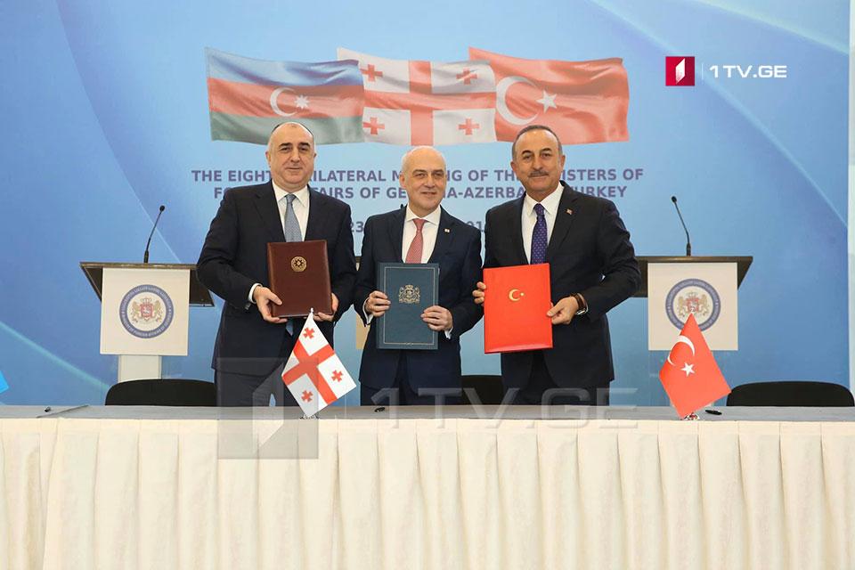 Georgia, Azerbaijan, and Turkey signed a co-operation plan