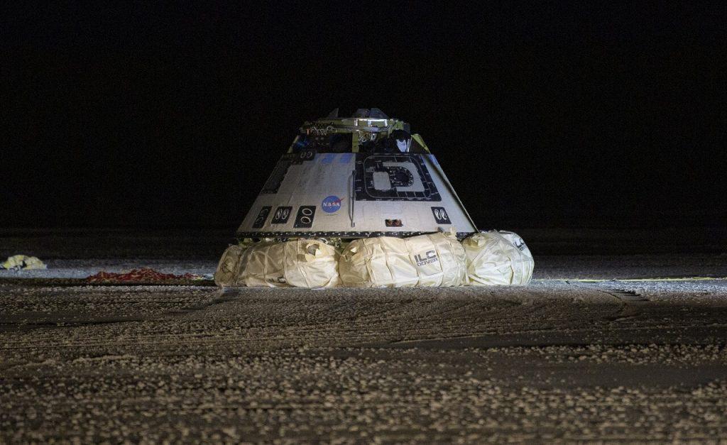 """ბოინგის ხომალდი """"სტარლაინერი"""" საერთაშორისო კოსმოსურ სადგურს ვერ მიუერთდა, მაგრამ დედამიწაზე უსაფრთხოდ დაჯდა"""