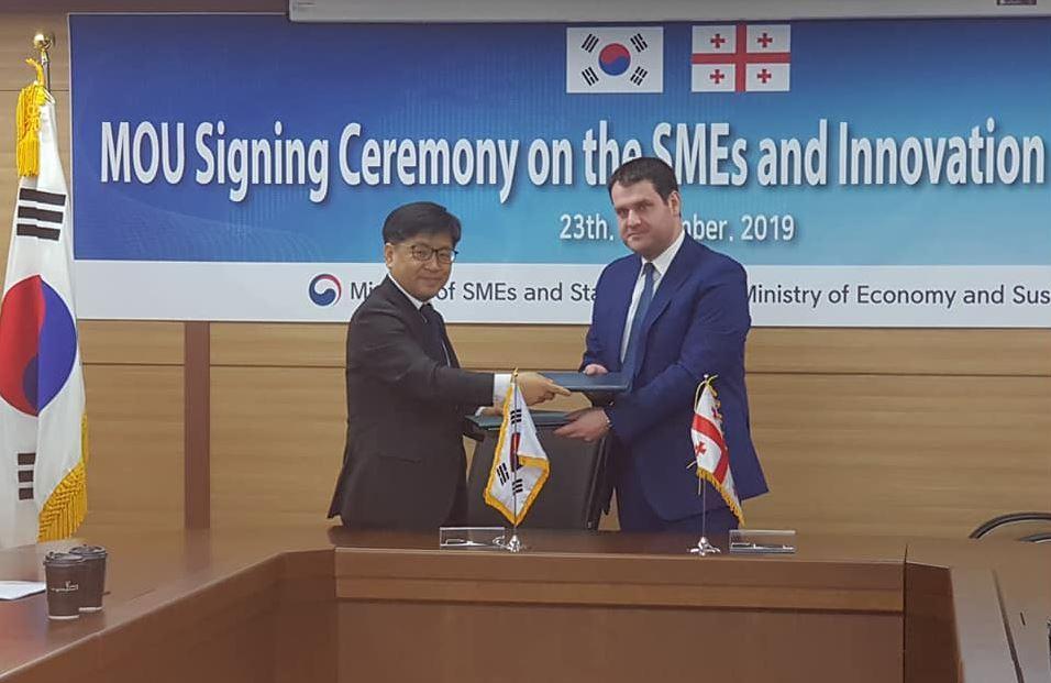 გენადი არველაძე - კორეულ მხარესთან ვთანამშრომლობთ ისეთი პროექტების განხორციელებაზე, რომლებიც ხელს შეუწყობს ქართული პროდუქციისადმი ინტერესს და ექსპორტის გაზრდას