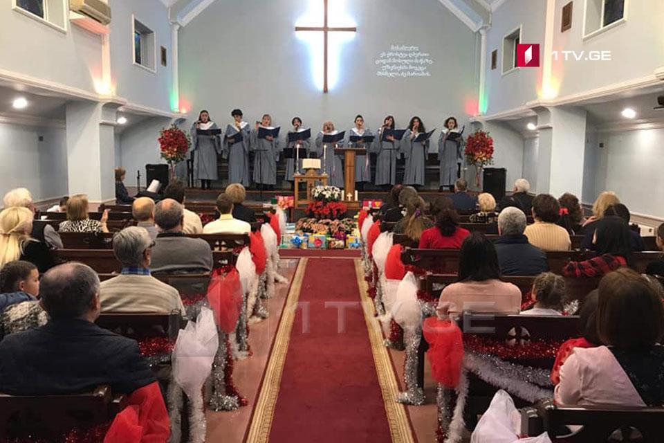В протестантских и католических храмах в Батуми проходит служба в связи с Рождеством Христовым
