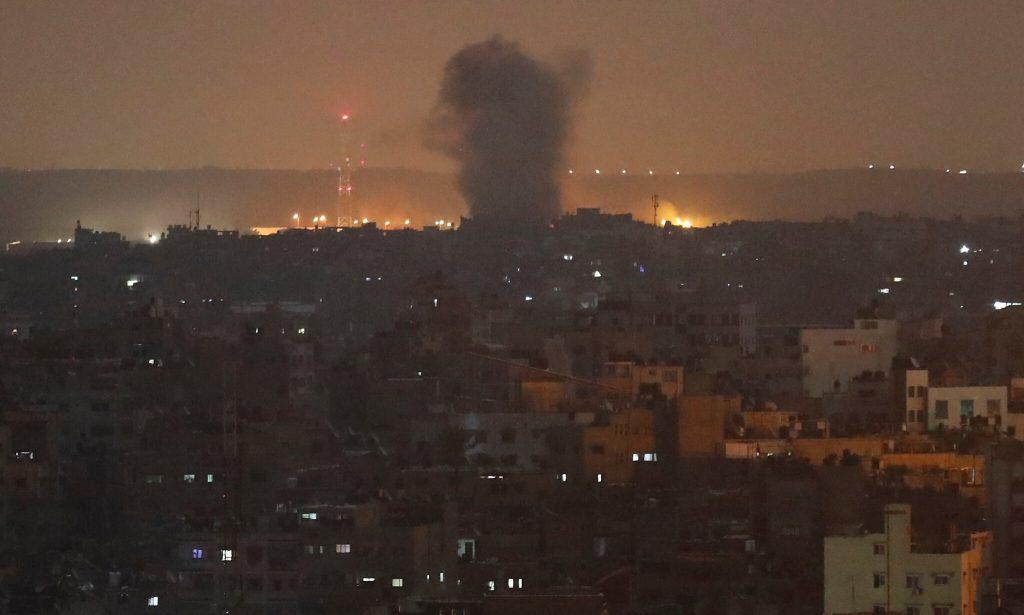"""ისრაელის სამხედრო ავიაციამ ღაზის სექტორში """"ჰამასის"""" რამდენიმე სამიზნე ობიექტი გაანადგურა"""