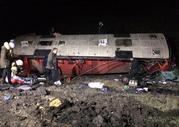 По информации российских СМИ, в автобусе, который перевернулся в Липецкой области, находились граждане Грузии, погибли два человек
