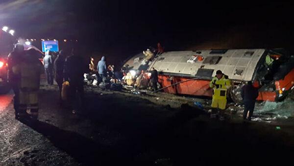 По сообщениям российских СМИ, после аварии в Липецкой области, задержан водитель автобуса рейса Москва-Тбилиси