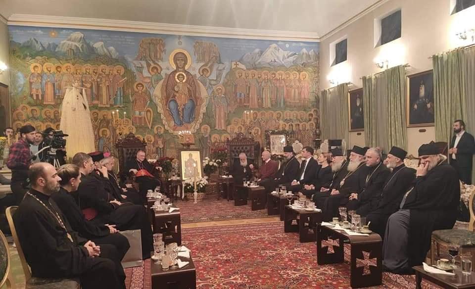 Патриархия распространяет информацию о встрече Илии II с кардиналом Пьетро Паролином