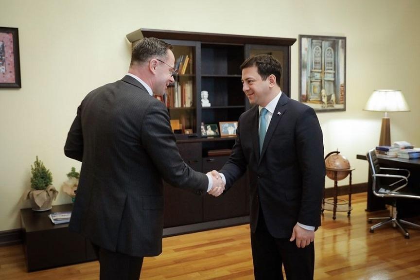 Арчил Талаквадзе встретился с руководителем группы дружбы с парламентом Грузии Сейма Литвы