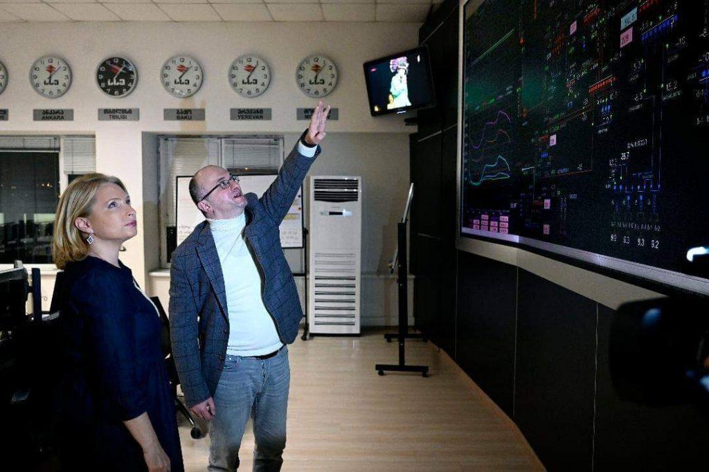 ნათია თურნავა ახალ წელს სახელმწიფო ელექტროსისტემის ეროვნულ სადისპეტჩერო ცენტრში შეხვდა