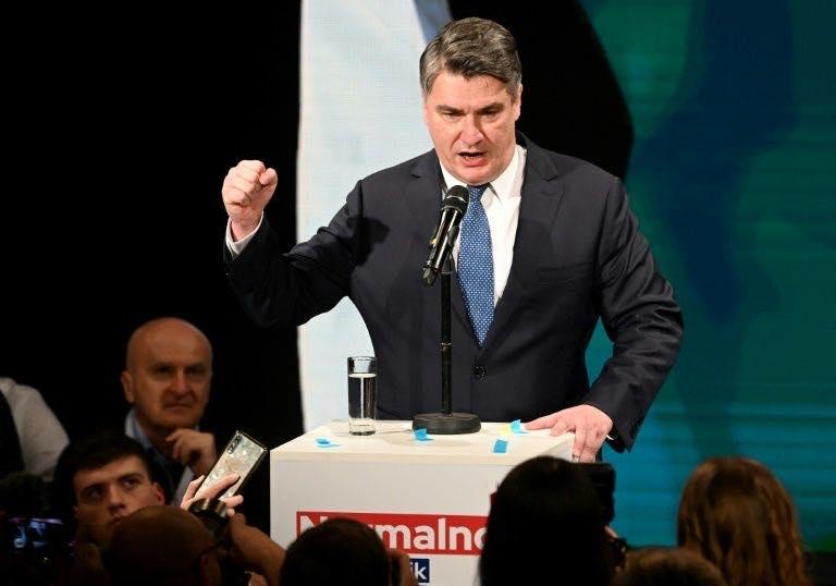 ხორვატიის საპრეზიდენტო არჩევნების მეორე ტურში ზორან მილანოვიჩი ლიდერობს