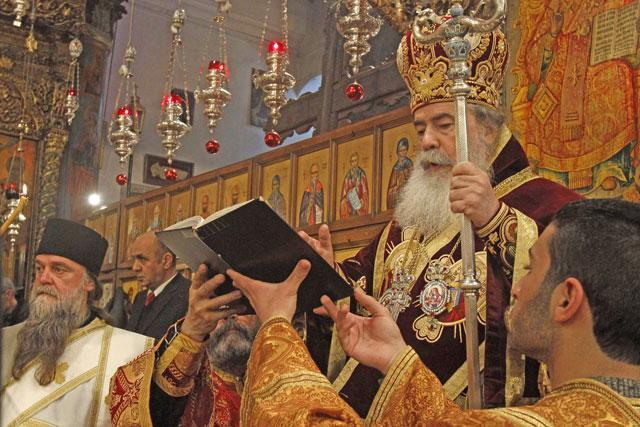 შობის დღესასწაულს აღნიშნავენ მართლმადიდებელი ქრისტიანები ბეთლემში