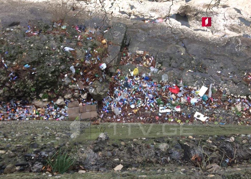ქუთაისში, მდინარე რიონის სანაპიროს დაბინძურებას აპროტესტებენ