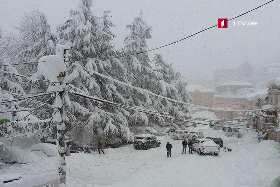 აჭარის მაღალმთიან სოფლებში თოვლის საფარმა ერთ მეტრს მიაღწია
