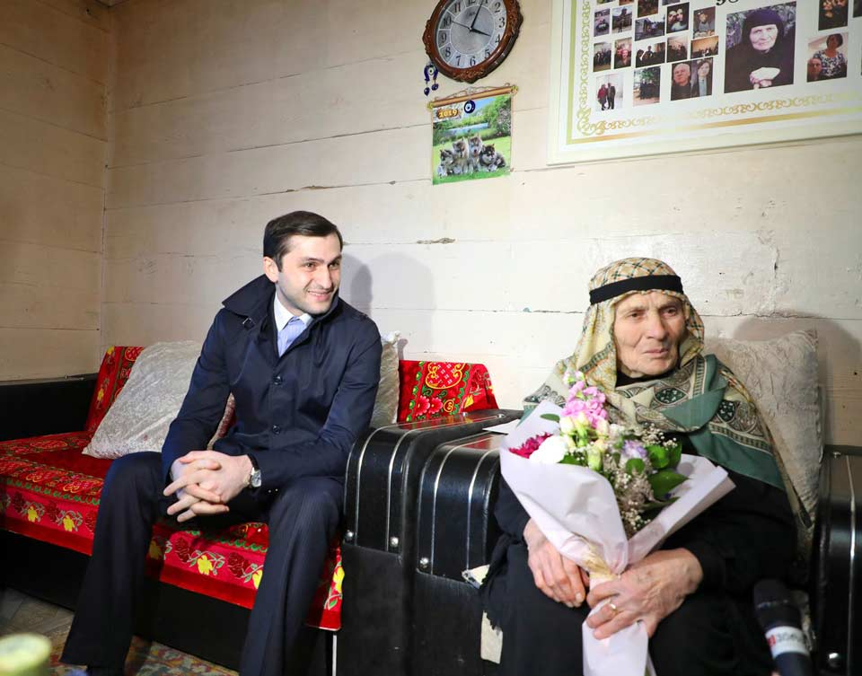 Асие Махарадзе, проживающей в Шуахевском муниципалитете, исполнилось 100 лет