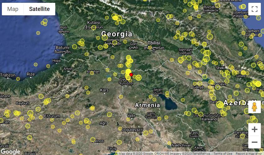 Վրաստանի սահմանի մոտակայքում, Հայաստանում տեղի է ունեցել երկրաշարժ