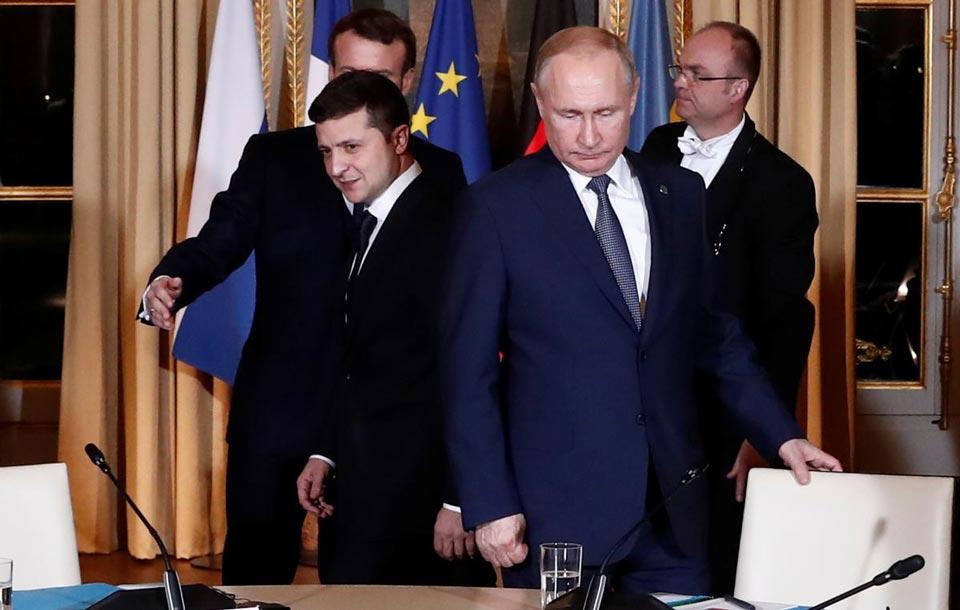 Vladimer Zelenski - Ukrayna böyük ölkə, Avropada ən böyük ölkədir, düşünürəm Vladimir Putin bunu başa düşür