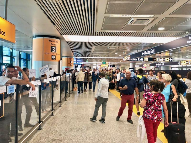 ახალი კორონავირუსის საფრთხის გამო იტალიის ხელისუფლებამ რომის აეროპორტში კონტროლი გაამკაცრა