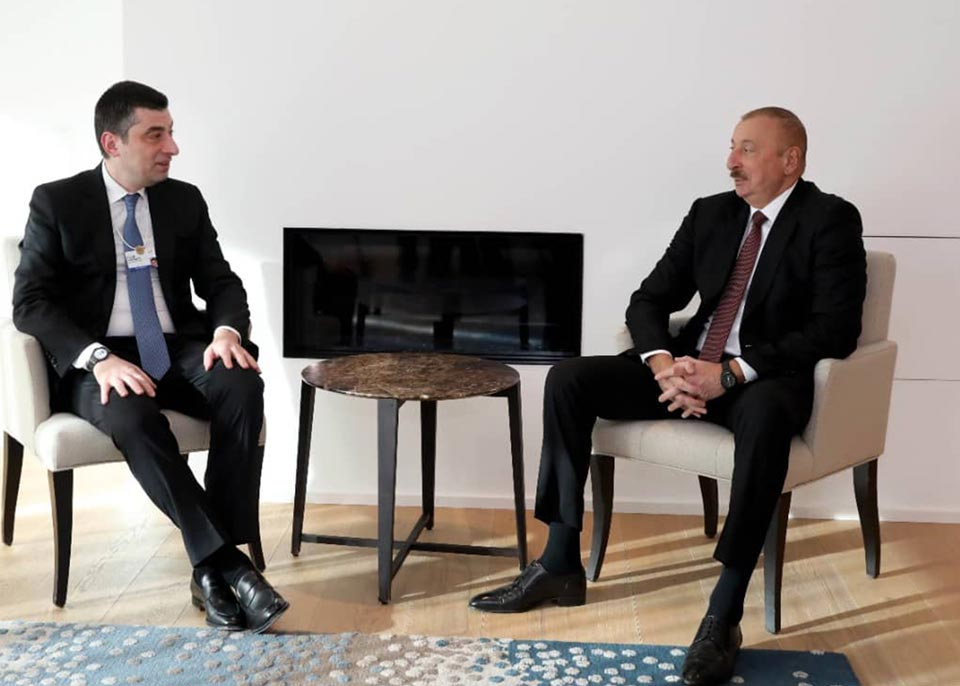 Georgian PM meets with President of Azerbaijan in Davos