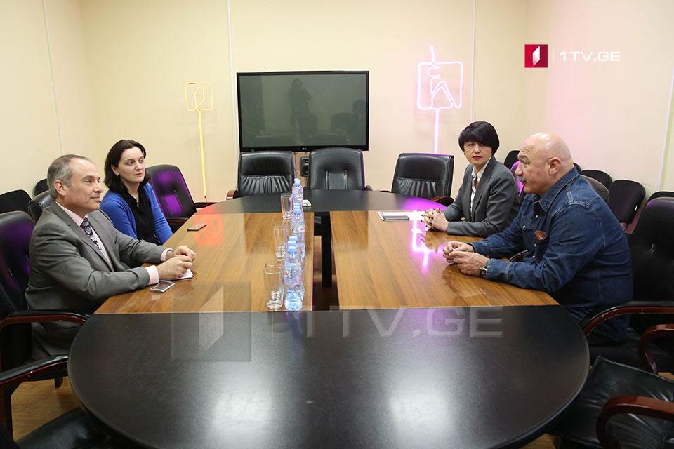Ambassador of Israel visited Georgian First Channel