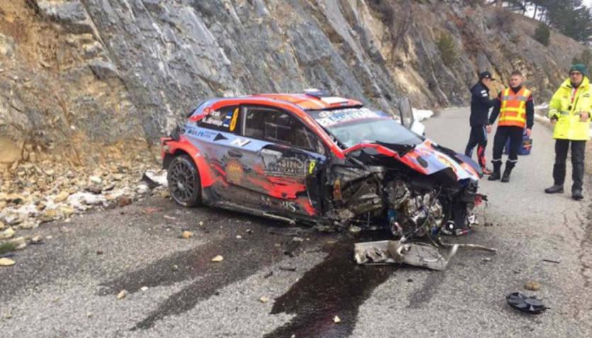რალის მსოფლიო ჩემპიონი მძიმე ავარიაში მოხვდა (ვიდეო)