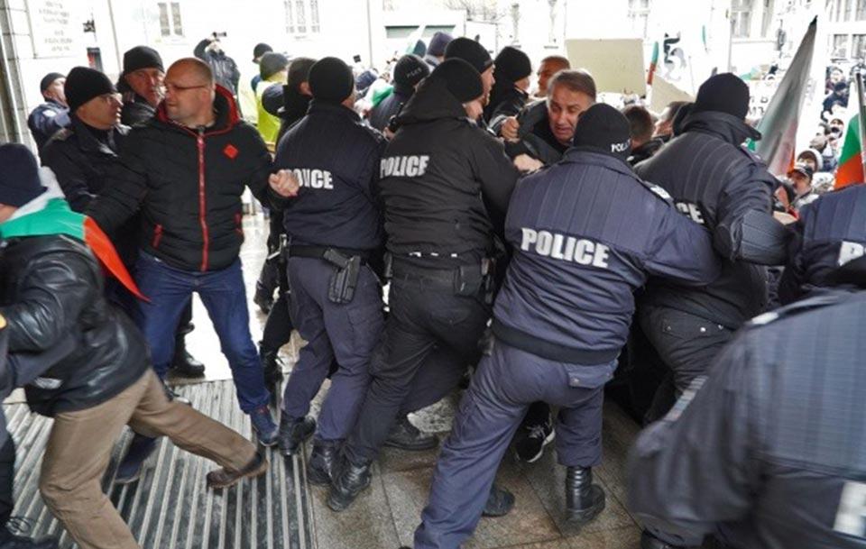 ბულგარეთის დედაქალაქში პოლიციასა და დემონსტრანტებს შორის შეტაკება მოხდა