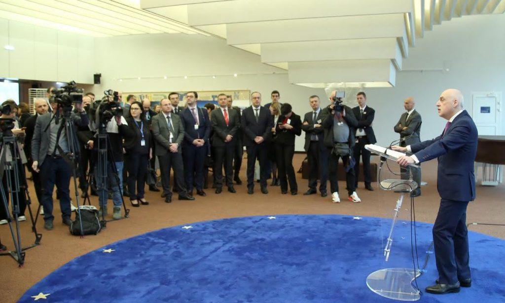 Դավիթ Զալկալիանին Եվրոպայի խորհրդի շենքում բացել է Վրաստանի ձմեռային զբոսաշրջության ներուժը պատկերող ցուցահանդեսը