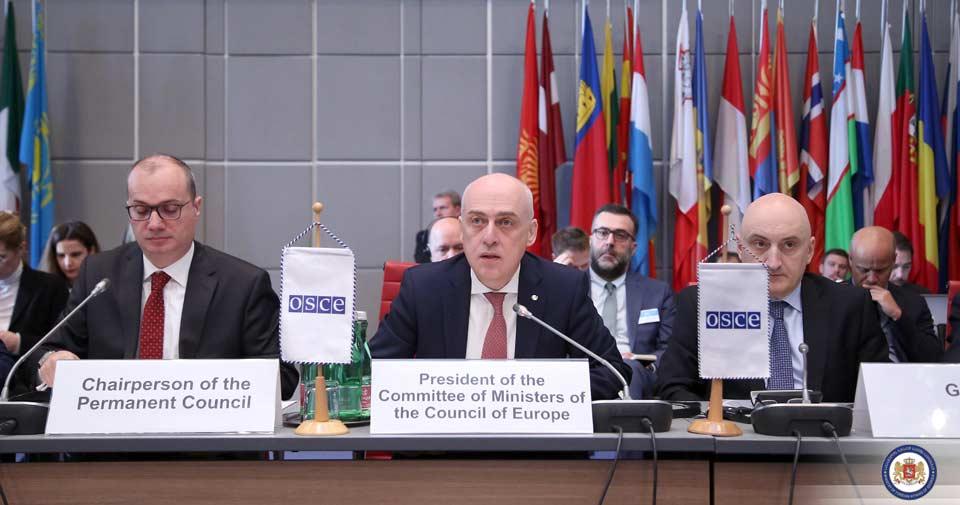 Դավիթ Զալկալիանին ԵԱՀԿ-ի մշտական կոմիտեին ներկայացրել է Եվրոպայի խորհրդի Վրաստանի նախագահության առաջնահերթությունները