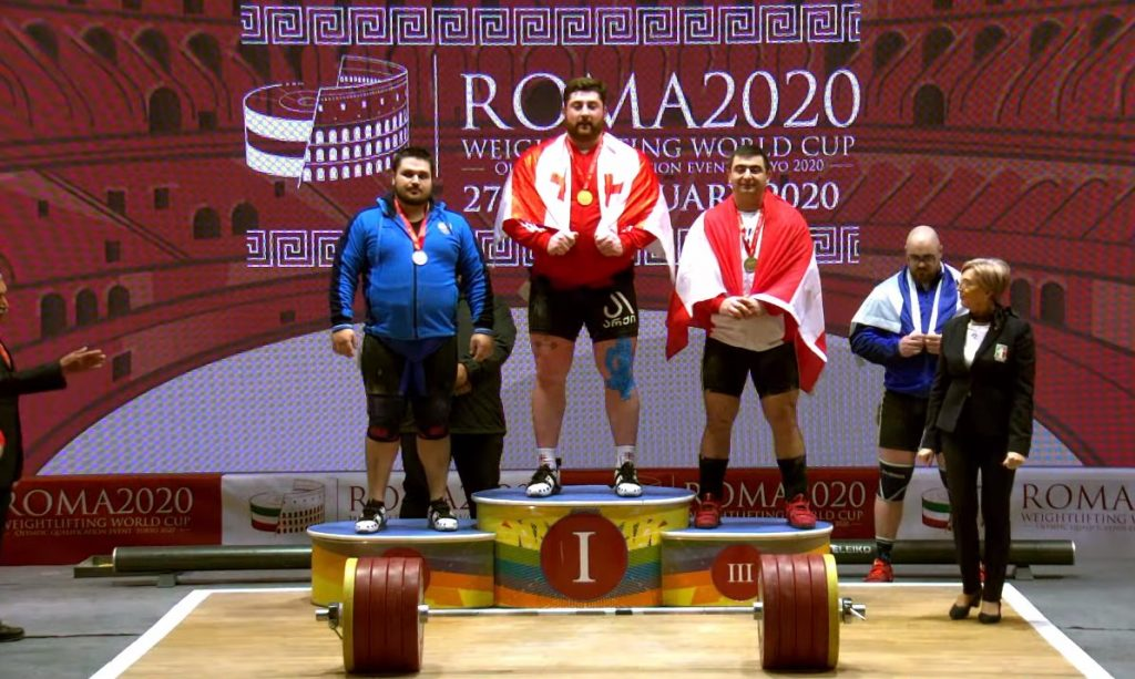 Georgian athlete wins three gold medals at World Weightlifting Championship in Italy