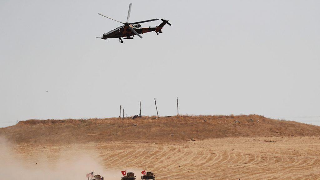 რეჯეფ თაიფ ერდოღანის განცხადებით, თურქეთის სამხედრო ავიაცია სირიის სამთავრობო არმიის პოზიციებს ბომბავს