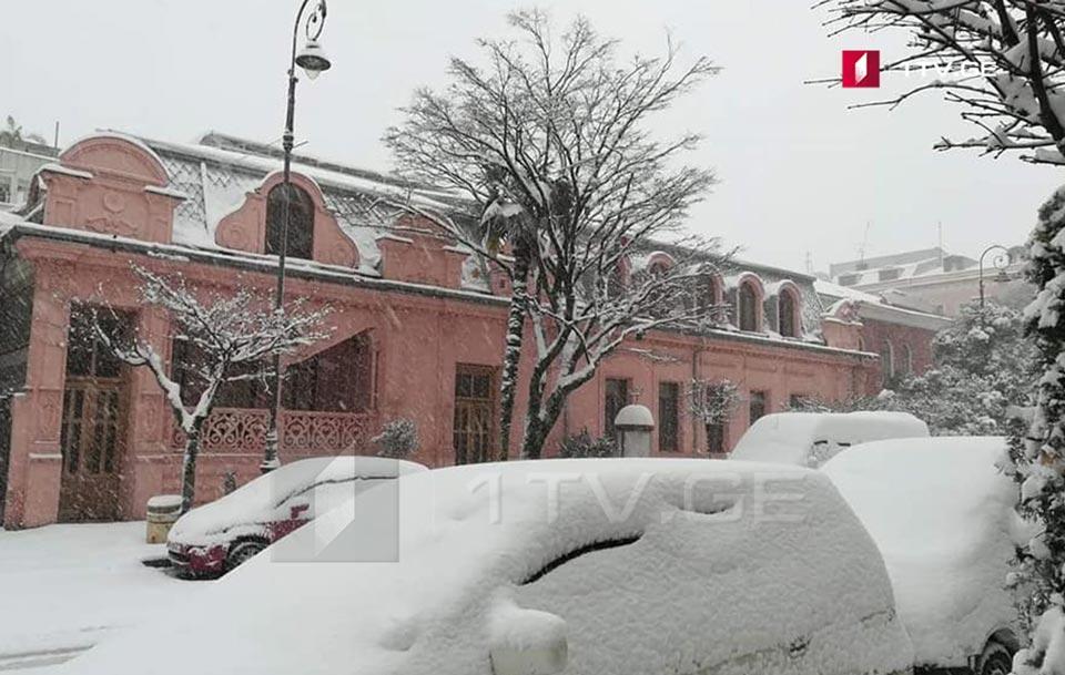 ბათუმში თოვლის საფარმა 30 სანტიმეტრს მიაღწია [ფოტო]