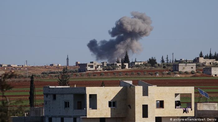 სირიაშირუსეთის სამხედრო ავიაციის დაბომბვას ცხრა ადამიანი ემსხვერპლა