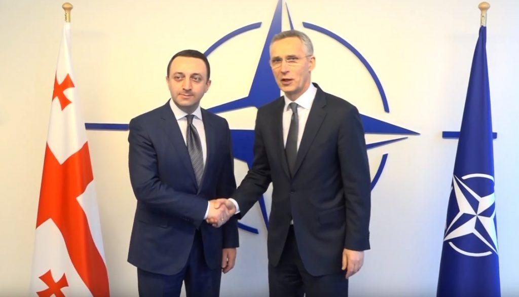 Gürcüstanın Müdafiə naziri NATO-nun baş katibi ilə görüşdü