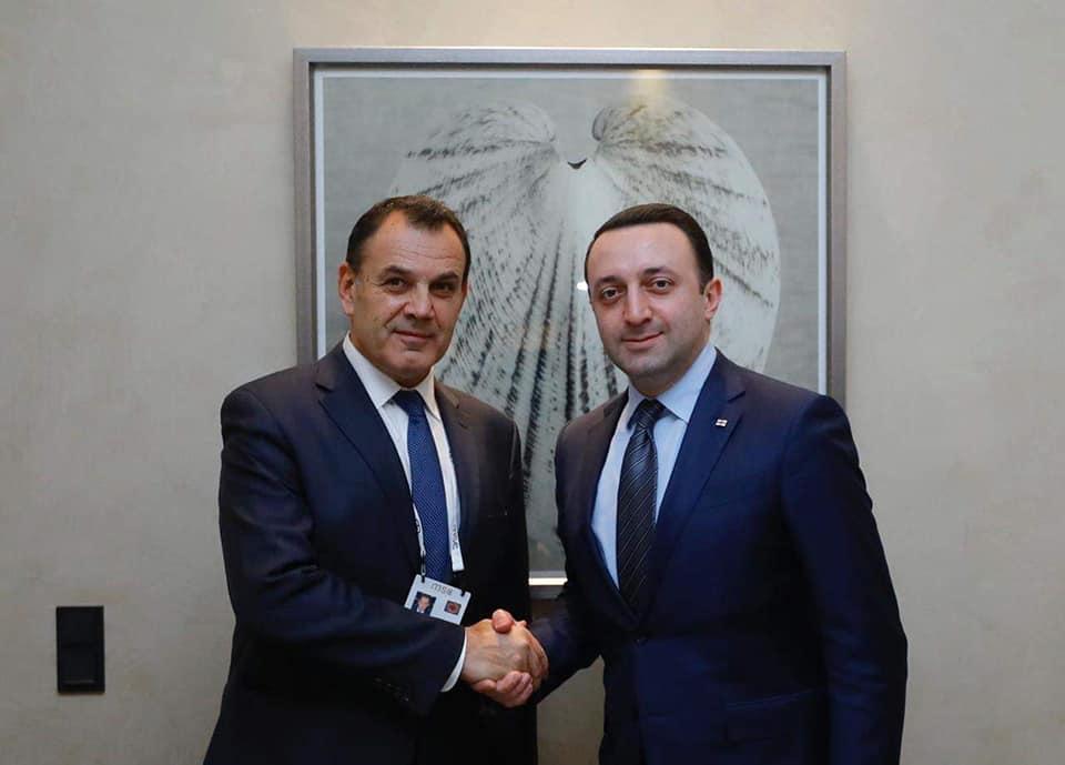 ირაკლი ღარიბაშვილი საბერძნეთის თავდაცვის მინისტრს შეხვდა