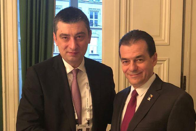 რუმინეთის პრემიერი - არსებითი და მეგობრული საუბარი შედგა საქართველოს პრემიერ-მინისტრ გიორგი გახარიასთან