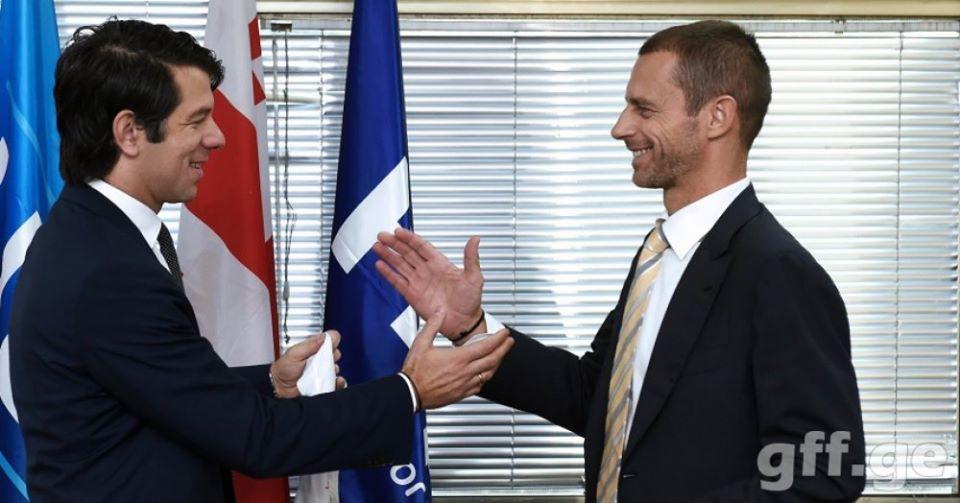 უეფას პრეზიდენტმა ქართულ ფედერაციას იუბილე მიულოცა - ევროპის ჩემპიონატის პლეი-ოფში წარმატებას გისურვებთ