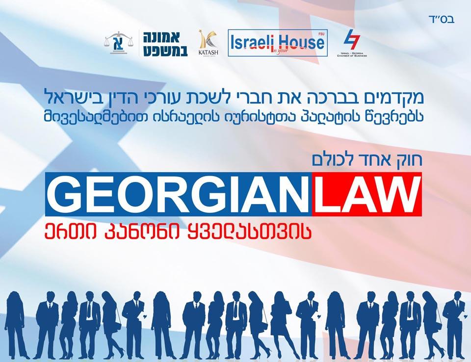 საქართველოს ბიზნესკანონმდებლობას 100 ისრაელელი იურისტი გაეცნობა