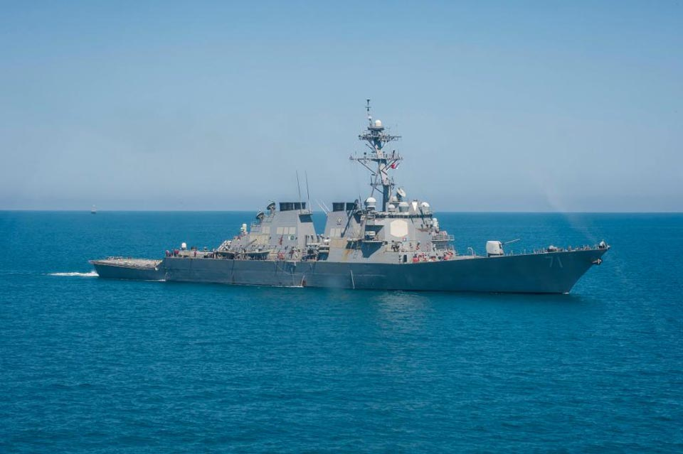 Американский военный корабль USS Ross зашел в Черное море