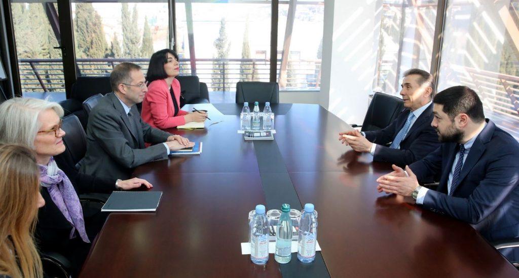 Bidzina İvanişvili Milli Demokratik İnstitutunun prezidenti ilə görüşdü