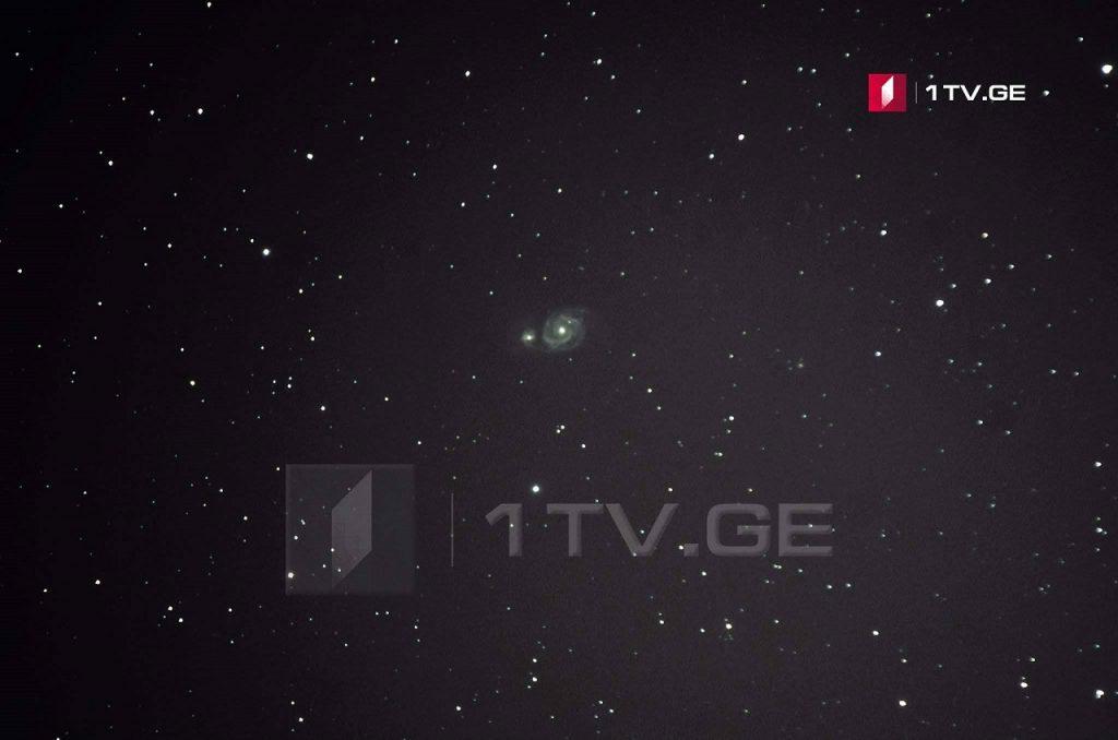 მორევის გალაქტიკა და მისი ჯუჯა კომპანიონი ირაკლი გედენიძის ასტროობიექტივში