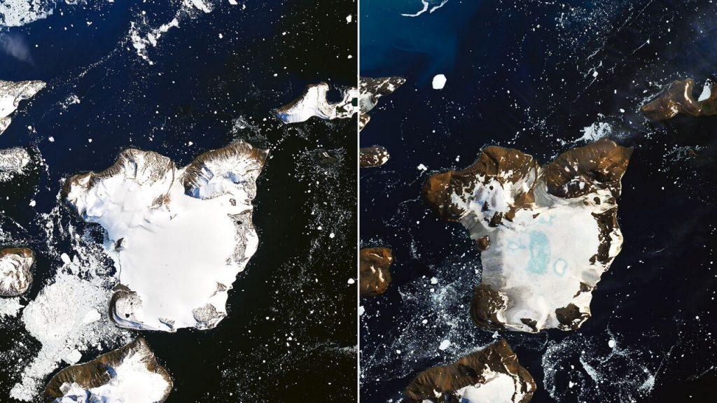 ყინულის დნობის წარმოუდგენლად მაღალი მაჩვენებელი ანტარქტიდაზე — ნასას ფოტოები