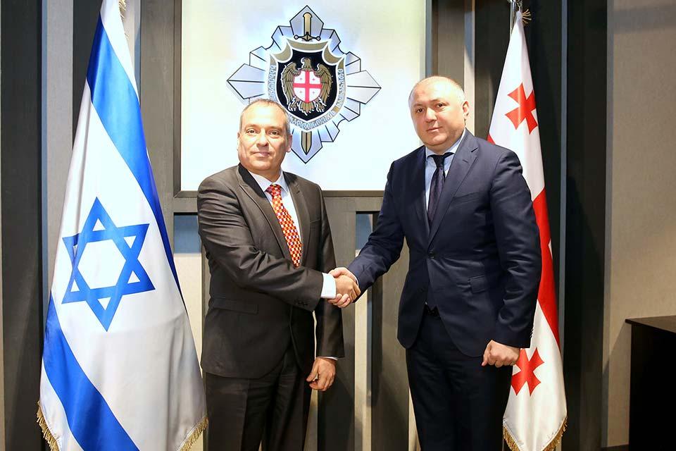 სახელმწიფო უსაფრთხოების სამსახურის უფროსი ისრაელის სახელმწიფოს ელჩს შეხვდა